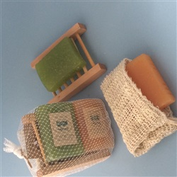 Soap Sack Loofah Soap Soap Tray Combo Pack