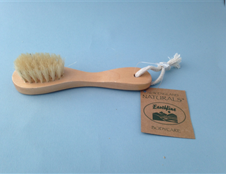 New England/Earthline - Face Brush Natural Bristle Wood Hand - Skincare & Spa...
