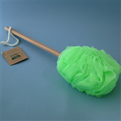 Flower Massage Net Sponge W/wooden Handle